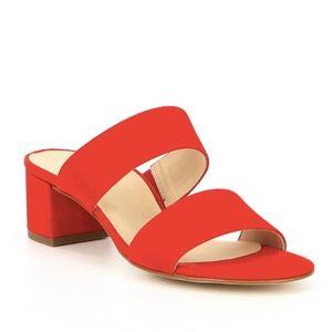 Paul Green | Red Meg Suede Block Heel Sandals